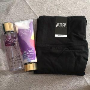 Victoria Secret Package- Leggings/Lotion/Spray
